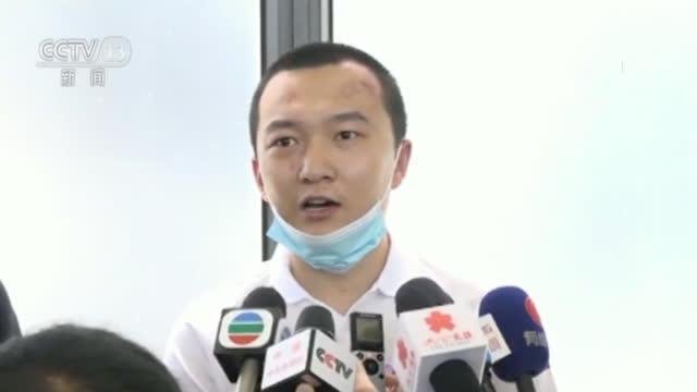 圖為付國豪在中國央視新聞中照片