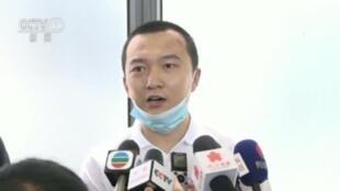 图为付国豪在中国央视新闻中照片
