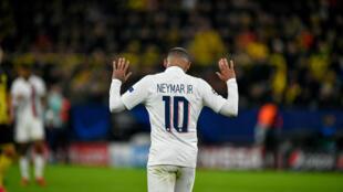 O atacante brasileiro Neymar do PSG.