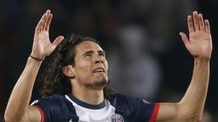 L'attaquant uruguayen du PSG, Edinson Cavani.