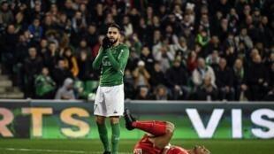 L'Algérien Ryad Boudebouz lors du match Saint-Etienne-Montpellier, le 24 novembre 2019.