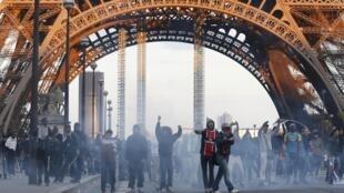 Birnin Paris inda aka yi arangama tsakanin Magoya bayan PSG da suke gudanar da bukin lashe kofin League 1 da 'Yan sanda