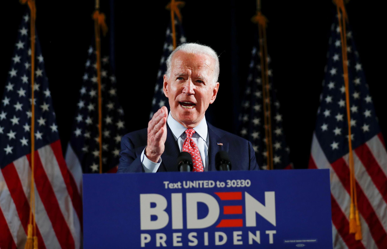 Cựu phó tổng thống Mỹ, Joe Biden chỉ trích các biện pháp chống dịch COVID-19 của chính quyền D. Trump tại Wilmington, Delaware, Hoa Kỳ, ngày 12/3/2020.