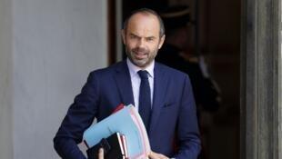 Le chef du gouvernement Edouard Philippe à la sortie du Conseil des ministres, le 28 juin 2017.