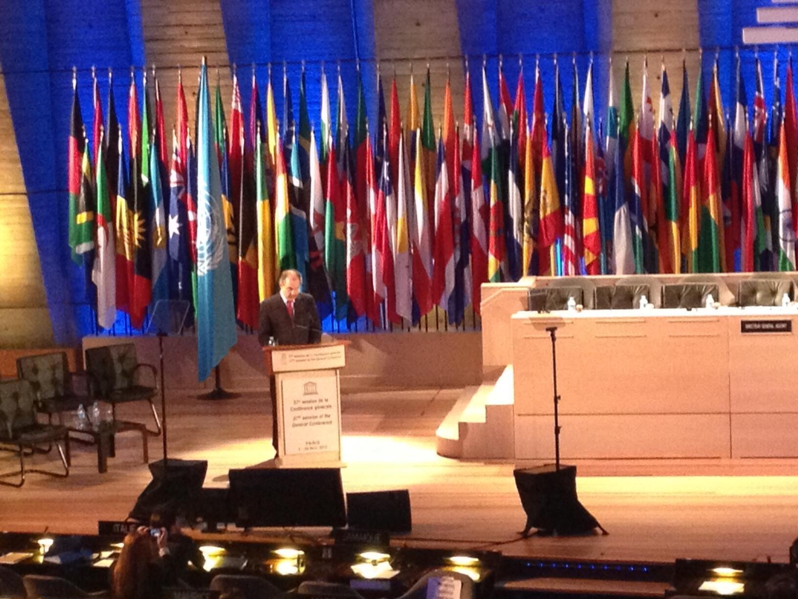 Ministro falou diante de representantes dos países-membros da Unesco.