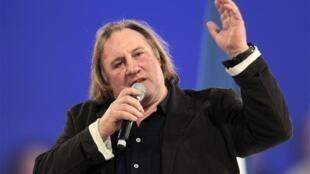 French actor Gérard Depardieu