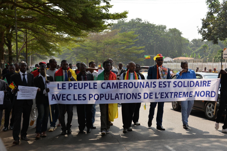 Au Cameroun, les marches de protestation contre Boko Haram, comme ici à Yaoundé le 21 janvier 2015, se succèdent.