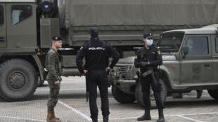 Espanha - Coronavírus - Espagne - Militaires - Policiers - Police - Militares - Polícia
