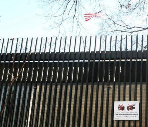 Grille de l'ambassade des Etats-Unis à Ankara.