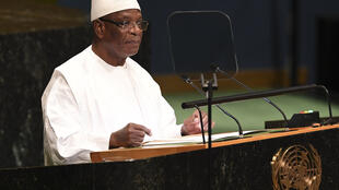 Le président malien Ibrahim Boubacar Keïta (IBK), le 24 septembre 2018 à la tribune de l'Assemblée générale de l'ONU, à New York.