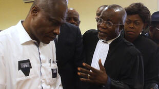 Opposition candidate Martin Fayulu files a complaint over the election results at the Constitutional Court in Kinshasa, 12 January 2019.