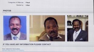 Sur le site d'Interpol, la page qui indique que Bachir Saleh est officiellement recherché.