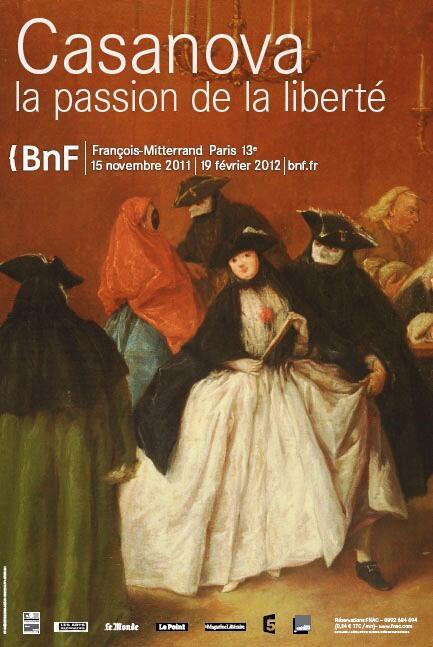 """Cartaz da mostra """"Casanova, a paixão pela liberdade"""", em cartaz até 19 de fevereiro de 2012."""