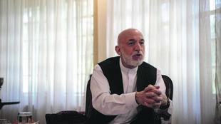 حامد کرزی، رئیس جمهور پیشین افغانستان در کابل. دوشنبه ١٤ مرداد/ ۵  اوت ٢٠۱٩