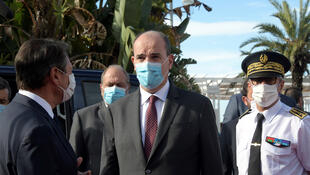 Primeiro ministro français, Jean Castex anuncia em Nice meios para a polícia e a justiça lutarem contra a insegurança