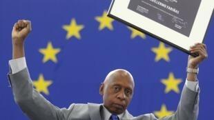 Le dissident cubain a enfin reçu devant le Parlement européen son prix Sakharov pour la liberté de penser, décerné en octobre 2010.