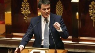 O primeiro-ministro francês, Manuel Valls, apresentou o programa de estabilidade Asembleia Nacional na semana passada.