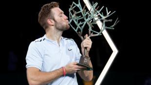 Jack Sock beat Filip Krajinovic to lift the Paris Masters trophy.