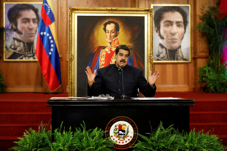 O presidente da Venzuela, Nicolás Maduro, em Caracas, em outubro de 2017.