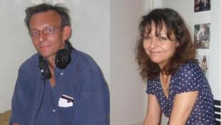 2013年在馬里遭綁架殺害的法廣記者   Ghislaine Dupont (右)和Claude Verlon。
