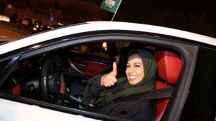 沙特阿拉伯女性慶祝有權開車