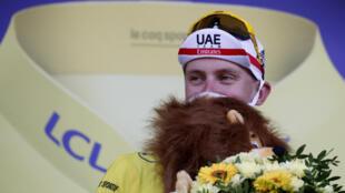 El esloveno Tadej Pogacar, virtual ganador del Tour de France 2020, 19 de septiembre 2020
