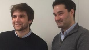 Pierre-Antoine Foreau (gauche) et Vincent Guilhem de Pothuau, fondateurs de Comparateuragricole.com