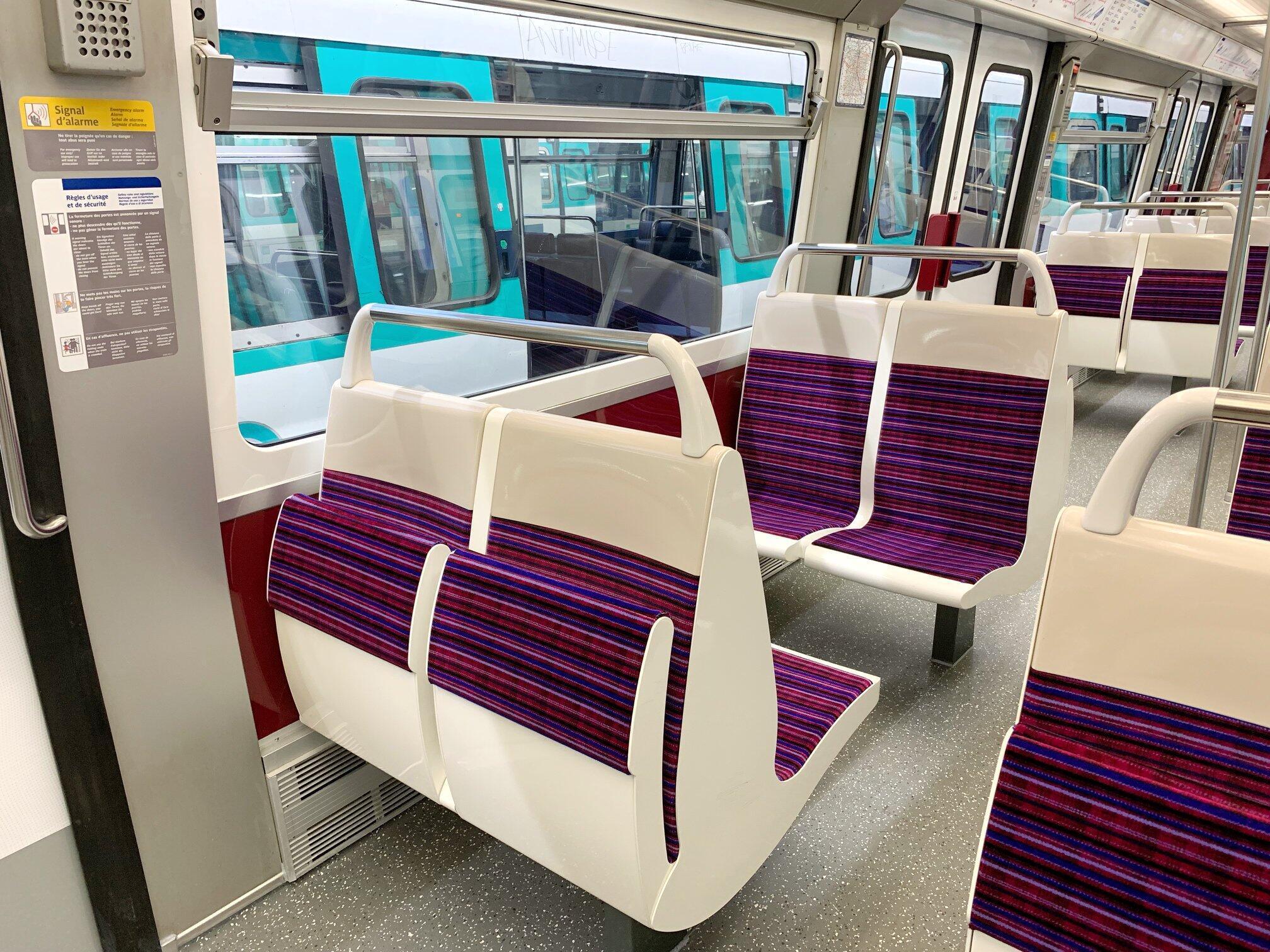 Un nuevo diseño para el interior de los trenes.