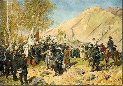 """""""Пленение Шамиля"""", худ. Франц Рубо, 1886 г."""