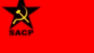 Le drapeau du Parti communiste sud-africain (SACP).