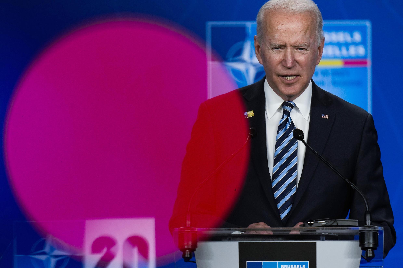 El presidente de Estados Unidos, Joe Biden, en una rueda de prensa tras la cumbre de la OTAN en Bruselas, Bélgica, el 14 de junio de 2021