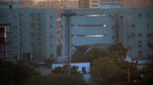 Makao makuu ya idara ya ujasusi ya Sudani, Januari 14, 2020 huko Khartoum.