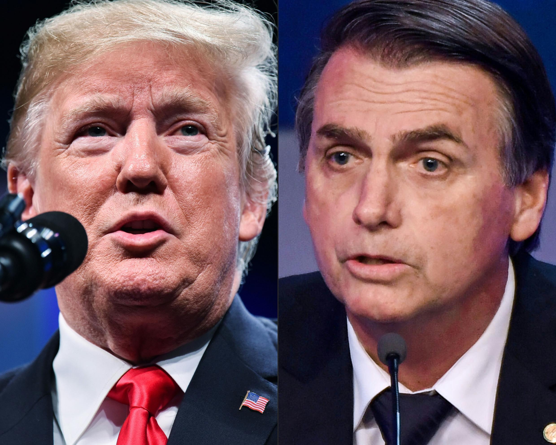 Tổng thống Brazil Jair Bolsonaro (P) sẽ gặp đồng nhiệm Mỹ Donald Trump trong chuyến công du đầu tiên.