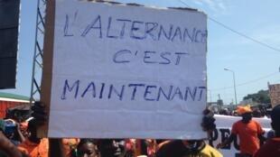 Un manifestant togolais dans une rue de Lomé, le 20 septembre 2017.