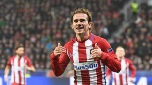 Dan wasan gaba na Atletico Madrid Antoine Griezmann.