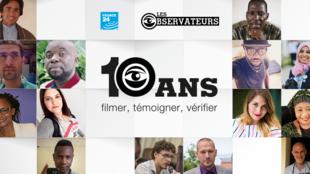 """""""Les Observateurs"""" de France 24 fêtent leurs 10 ans d'existence."""