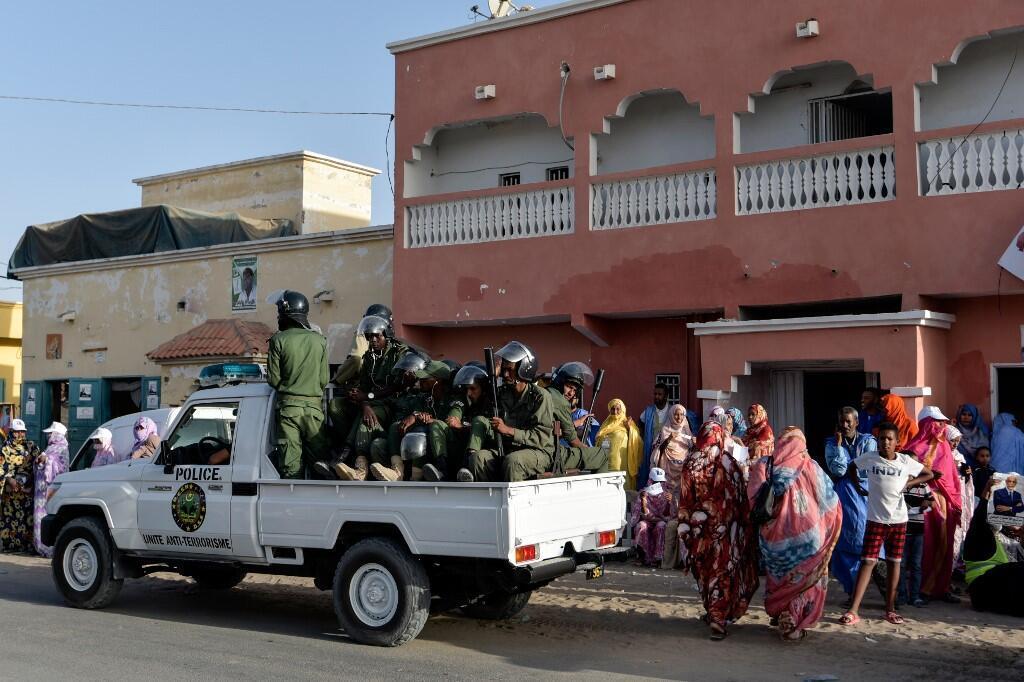 Des policiers mauritaniens à Nouakchott, le 22 juin 2019.