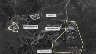 تصویر ماهوارهای که ارتش اسرائیل در خصوص تاسیسات موشک سازی حزبالله منتشر کرده است