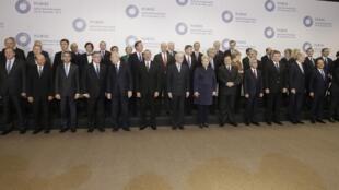 Европейские лидеры на открытии саммита ЕС-Восточное партнерство