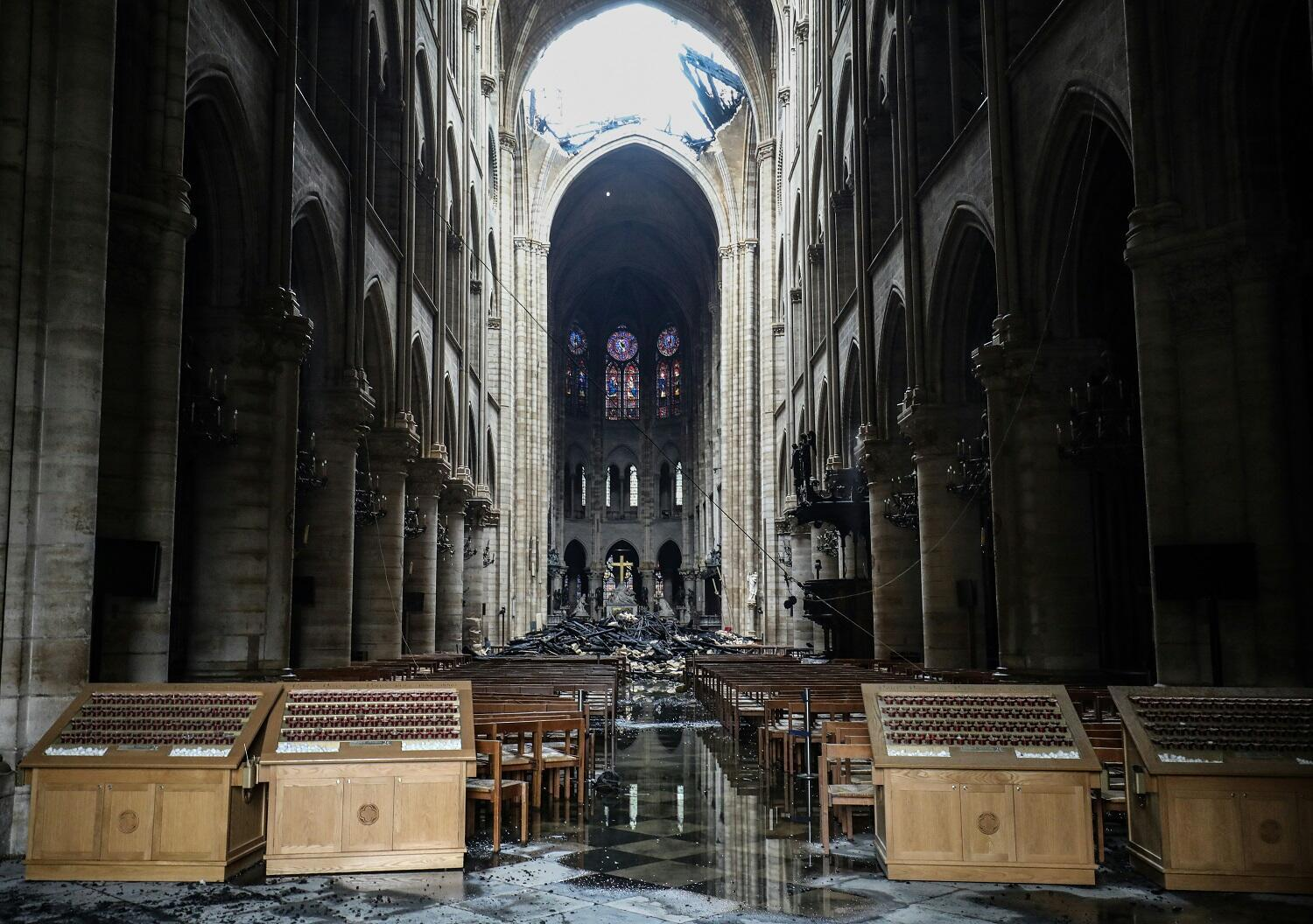 The Notre Dame after the fire, 16 April 2019