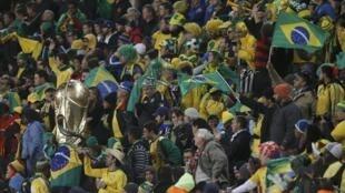 Torcida brasileira, África do Sul.