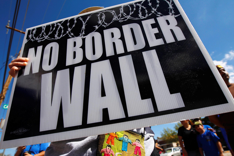 Manifestación en El Paso contra la construcción del muro en la frontera con México, el 22 de septiembre de 2018 en El Paso, Texas.