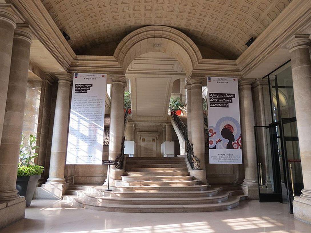 Vue intérieure de la mairie de Rouen.
