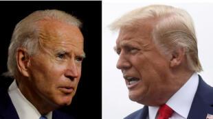 Joe Biden na Donald Trump,Septemba 29, 2020, wakati wa mdahalo wa kwanza wa televisheni kabla ya uchaguzi wa urais, Novemba 3, 2020.