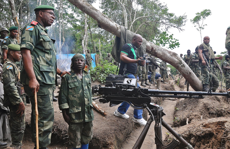 Askari wa FARDC katika mkoa wa Kivu Kaskazini.