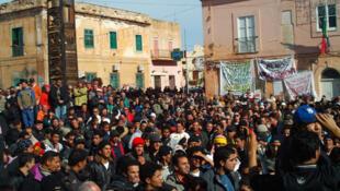 تظاهرات پناهجویان در شهر تورین ایتالیا