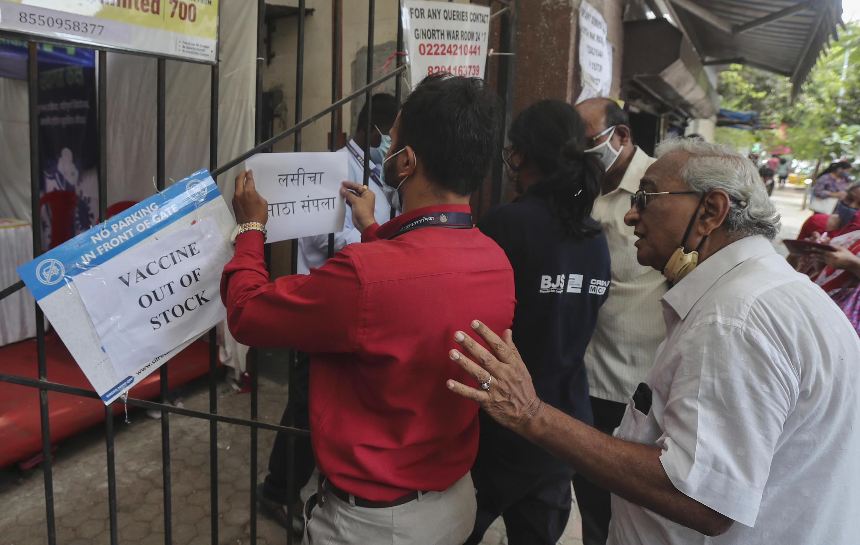 Image d'archive RFI : Photo d'un centre de vaccination contre le Covid-19 à Mumbai, en Inde, le 8 avril 2021.