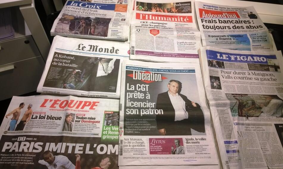 Diários franceses 04/12/2014