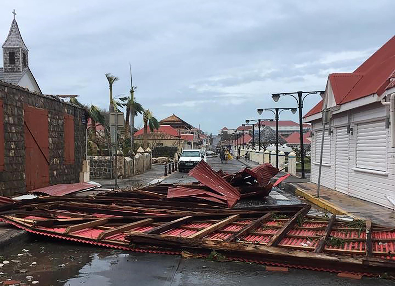 颱風後法國saint-barthelemy島