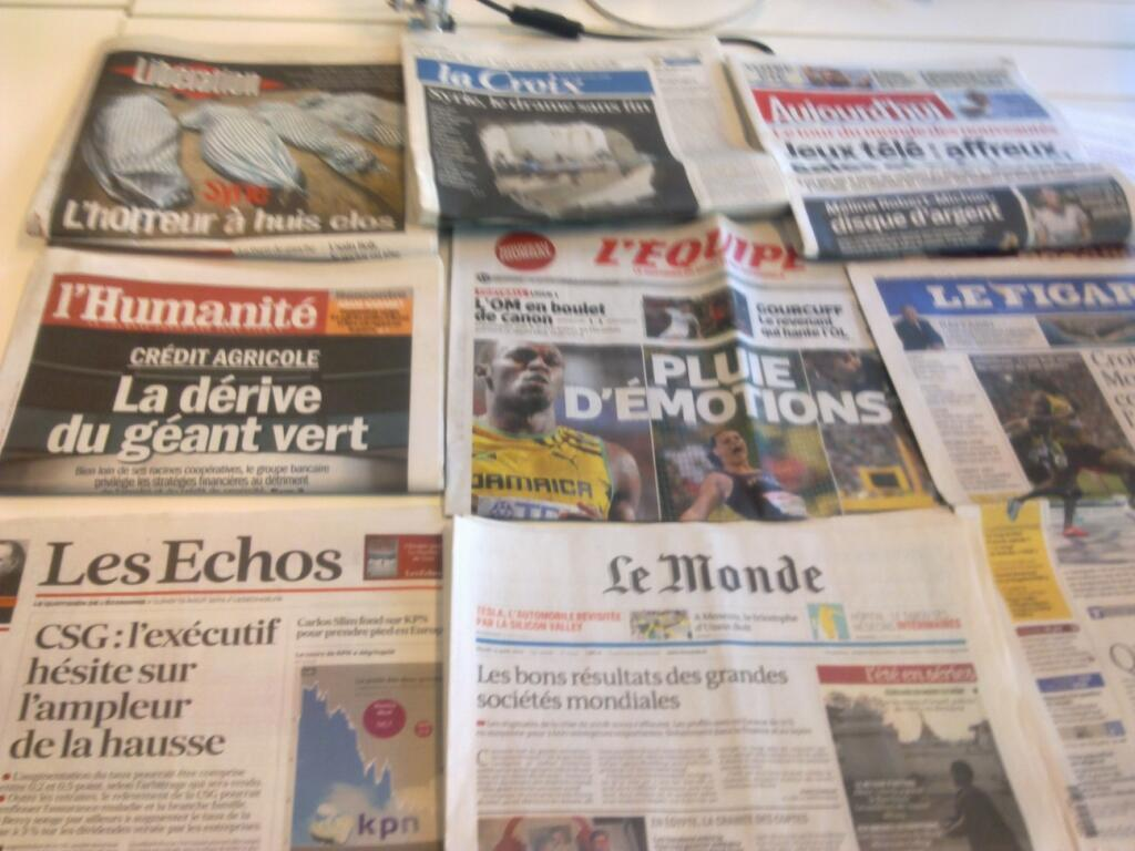 Diários franceses  12/08/2013